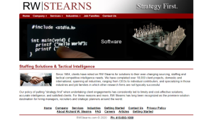 RW Stearns - Recruitment Research